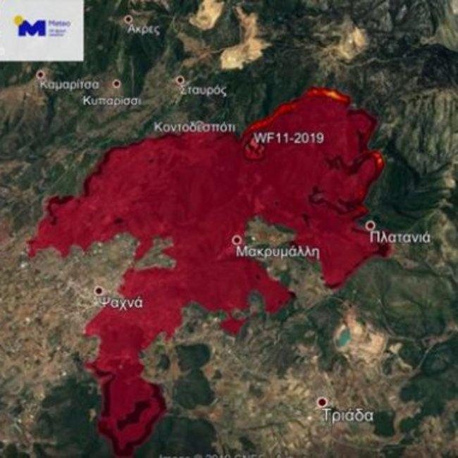 Συγκλονιστικό βίντεο προσομοίωσης με το χειρότερο σενάριο για τη φωτιά στην Εύβοια