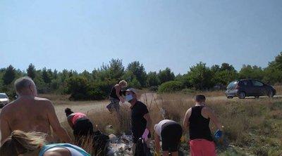 Χαλκιδική: Πολίτες «σηκώνουν μανίκια» για τα σκουπίδια στις παραλίες