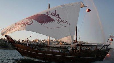 Στην Κέρκυρα το ξύλινο σκάφος του Κατάρ στο πλαίσιο προώθησης του Μουντιάλ 2022