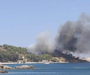 Πυρκαγιά στη Λέρο – Οι πρώτες εικόνες