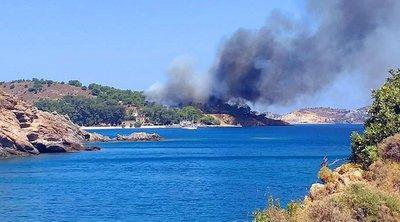 Τι λέει ο δήμαρχος Λέρου στο enikos.gr για την πυρκαγιά που ξέσπασε στο νησί