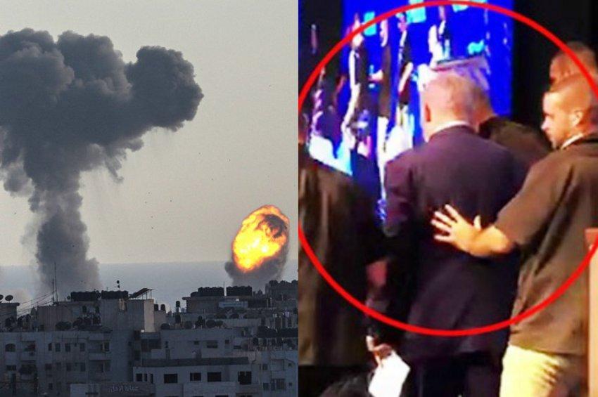 «Φλέγεται» η Γάζα: Ισραηλινοί βομβαρδίζουν τη Χαμάς που εκτοξεύει ρουκέτες – Φυγαδεύτηκε ο Νετανιάχου