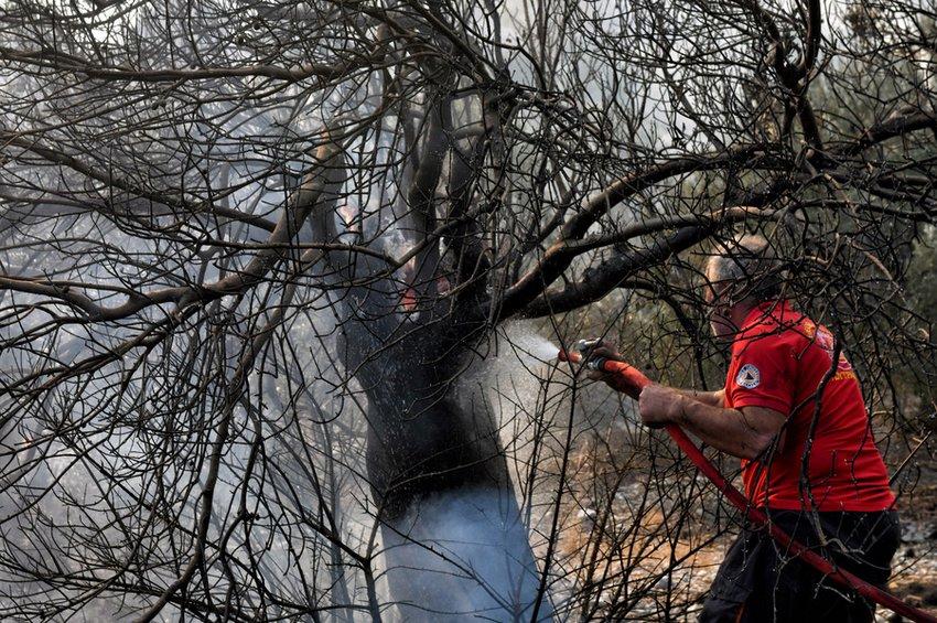 Αποτέλεσμα εικόνας για Φωτιά στο Λουτράκι