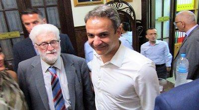 Συνάντηση του πρωθυπουργού Κυρ. Μητσοτάκη με τον δήμαρχο Ιωαννιτών Μ. Ελισάφ