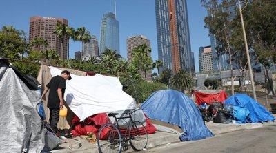 Ανησυχία Τραμπ για τον αριθμό των αστέγων στην Καλιφόρνια