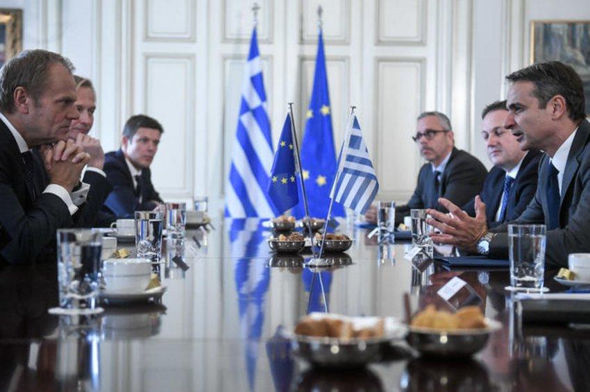 Τουρκία, Brexit και ένταξη Βαλκανικών χωρών στην ΕΕ, στην ατζέντα της συνάντησης Μητσοτάκη-Τουσκ