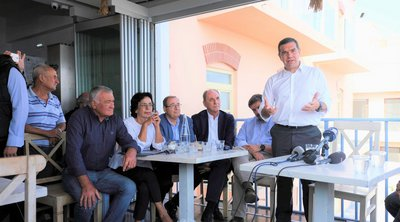 Τσίπρας από την Κρήτη: Ο Μητσοτάκης να απαντήσει για την παραδοχή Γεωργιάδη για Novartis