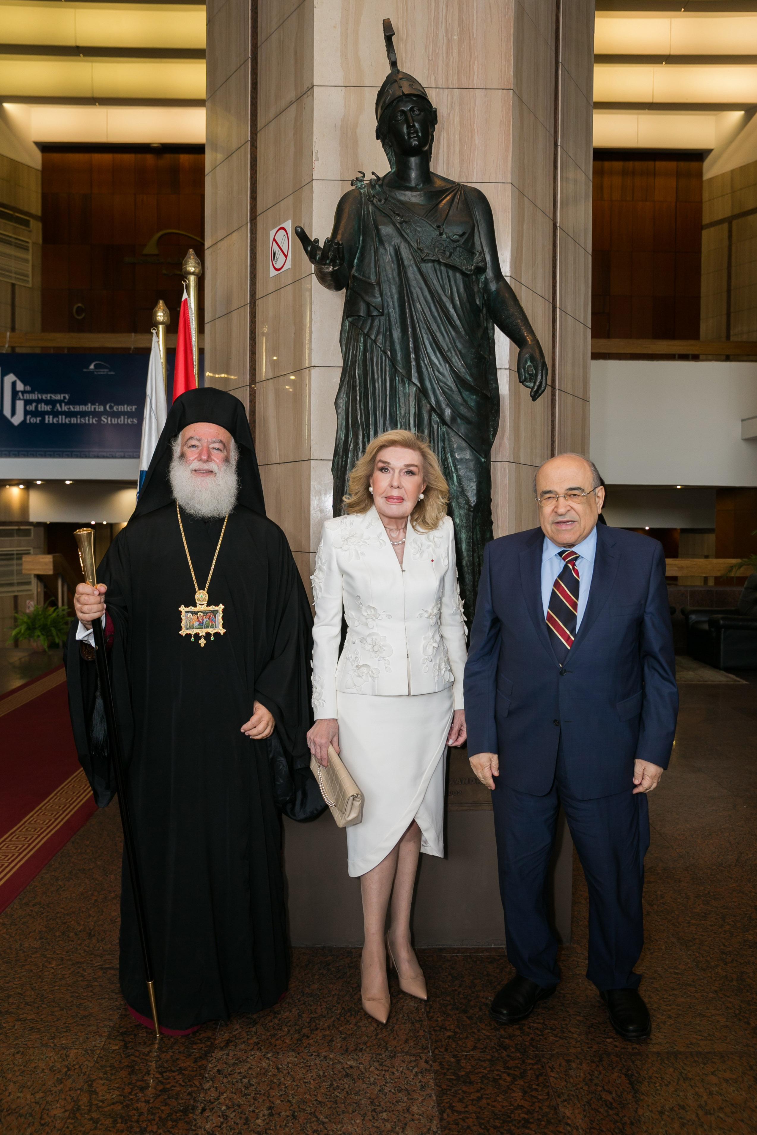 Μακαριώτατος Πατριάρχης Αλεξάνδρειας και Πάσης Αφρικής Θεόδωρος Β',  Μαριάννα Β. Βαρδινογιάννη,  Mostafa El Feki