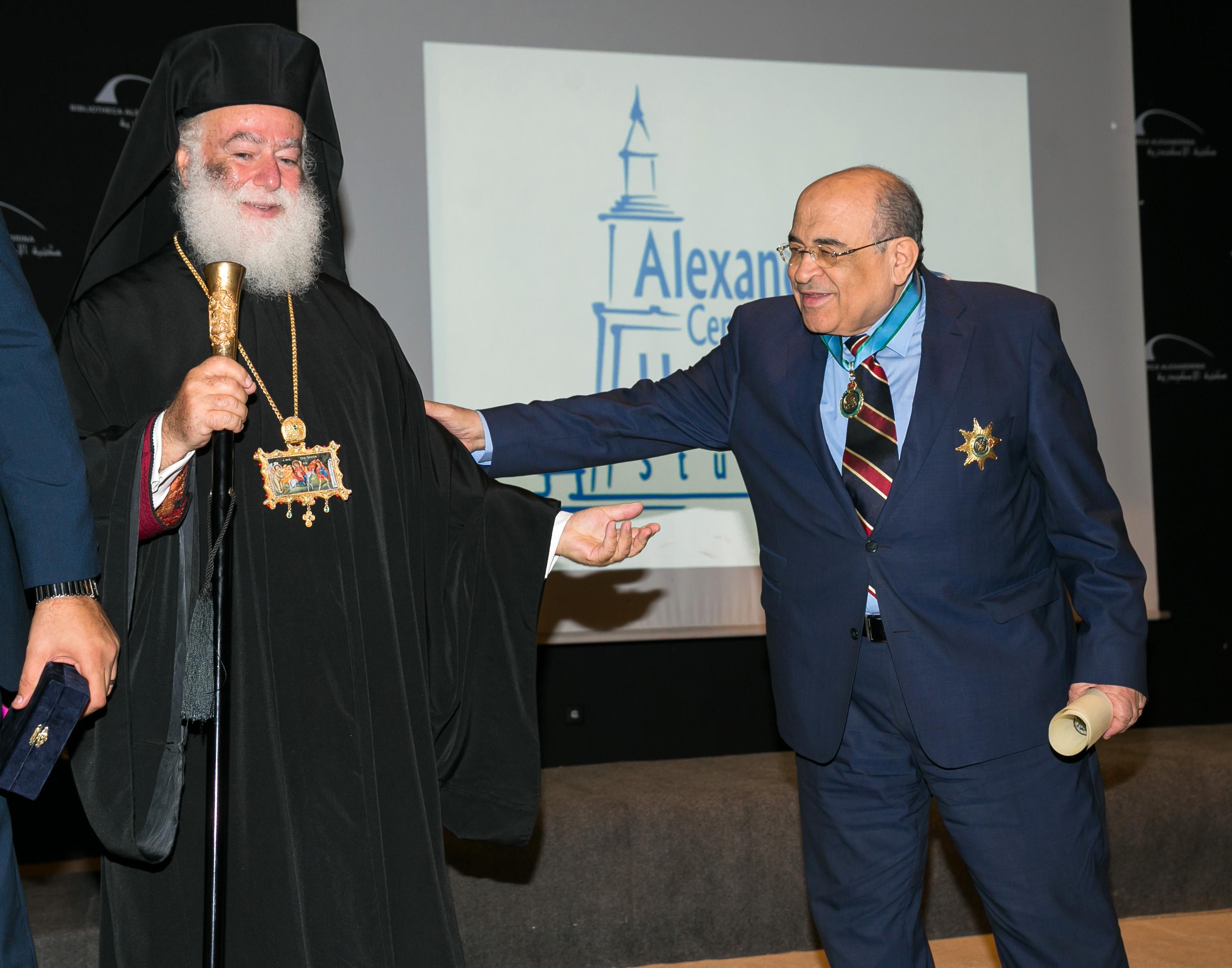 Μακαριώτατος Πατριάρχης Αλεξάνδρειας και Πάσης Αφρικής Θεόδωρος Β',  Mostafa El Feki