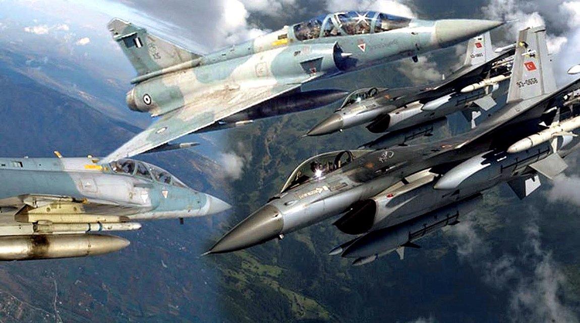 Νυκτερινές πτήσεις ζεύγους τουρκικών αεροσκαφών πάνω από τον βόρειο Έβρο - Αναχαιτίστηκαν από ελληνικά μαχητικά