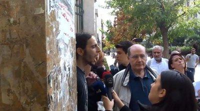 Φοιτητής διέκοψε τις δηλώσεις Φίλη στην ΑΣΟΕΕ: «Απαιτούμε να αποχωρήσουν τώρα»