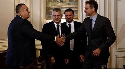 Συνάντηση Μητσοτάκη με αντιπροσωπεία κομμάτων της ελληνικής μειονότητας στην Αλβανία
