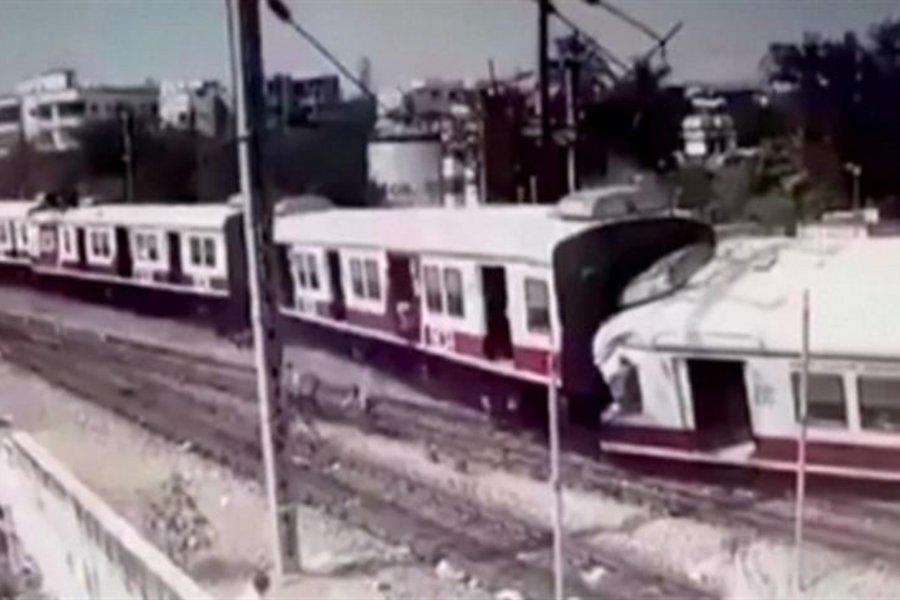 Η σοκαριστική στιγμή της μετωπικής σύγκρουσης δύο τρένων