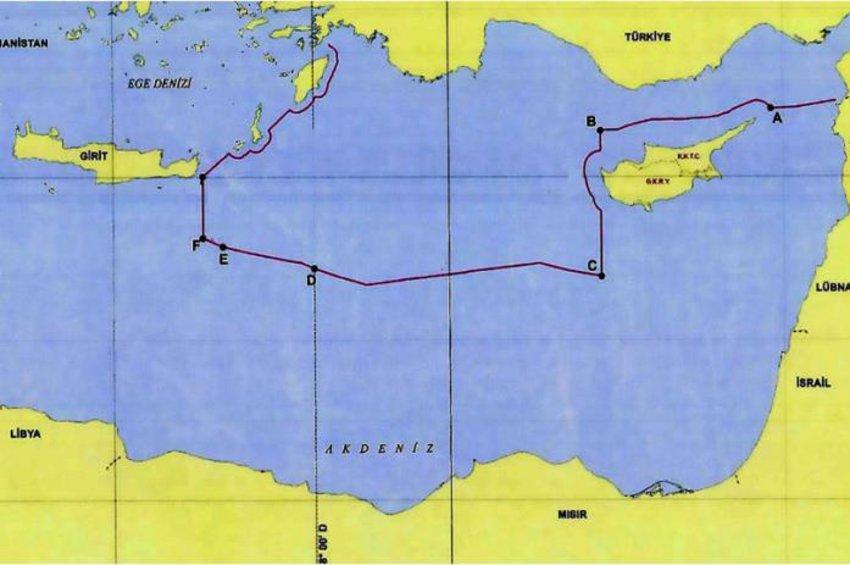 Ο προκλητικός χάρτης της συμφωνίας Τουρκίας - Λιβύης: Η Αγκυρα «εξαφάνισε» το Καστελόριζο και «άγγιξε» την Κρήτη