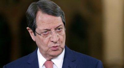 Αναστασιάδης: Η Τουρκία ενεργεί με βάση το «τουρκικό διεθνές δίκαιο»