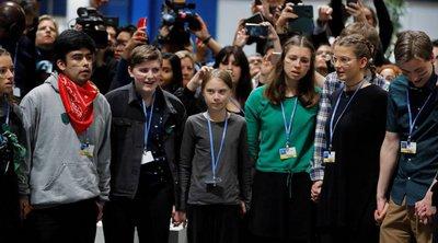 «Δεν μπορούμε να περιμένουμε άλλο», δηλώνει η Γκρέτα Τούνμπεργκ στις χώρες που συνεδριάζουν στη COP25