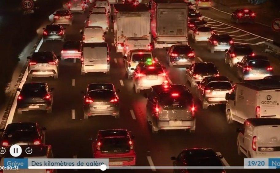 Νέες κινητοποιήσεις στη Γαλλία για το συνταξιοδοτικό - Μποτιλιάρισμα 400 χλμ. το πρωί στο Παρίσι