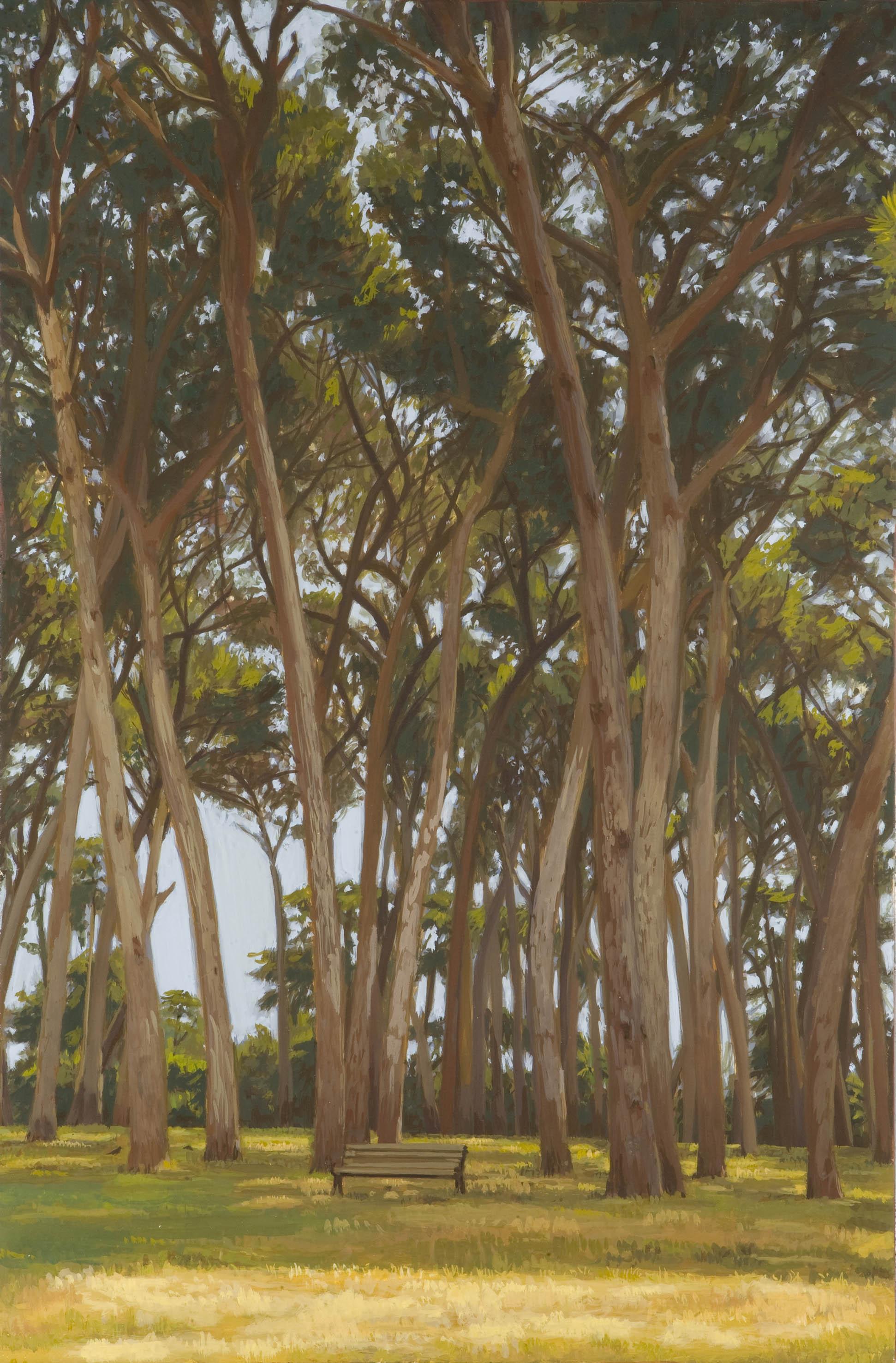 Αγλαία Περράκη, Κήπος δίχως όρια 1, αυγοτέμπερα πάνω σε ξύλο που είναι προετοιμασμένο με ύφασμα, 80 x 53 εκ.