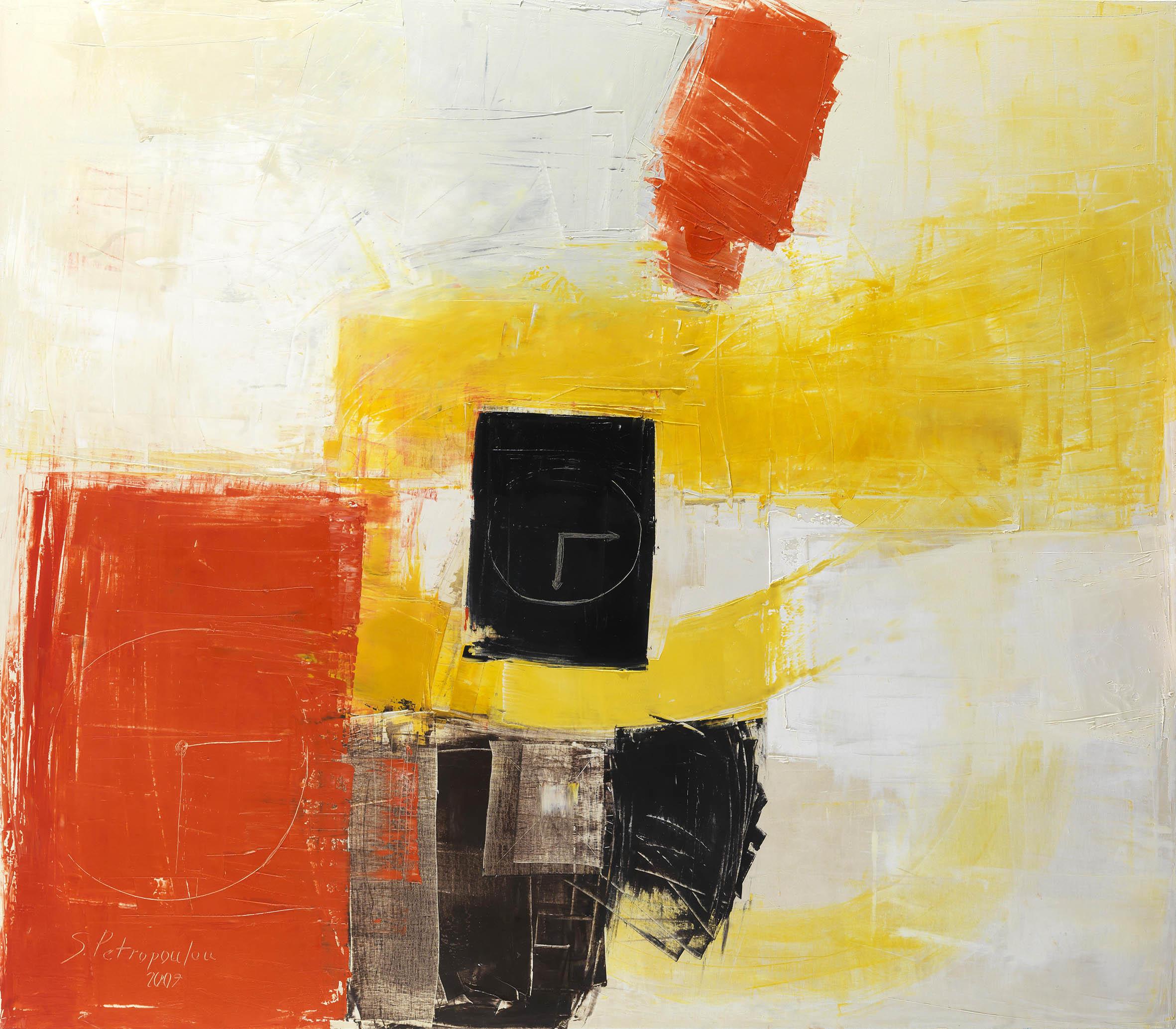 Σοφία Πετροπούλου, Τα πάντα ρει (2007), Λάδι σε μουσαμά, 140 x 160 εκ.