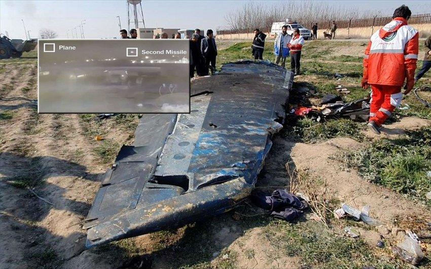 Νέο ντοκουμέντο από την κατάρριψη του Boeing - Δέχθηκε διπλό χτύπημα από ιρανικούς πυραύλους - ΒΙΝΤΕΟ