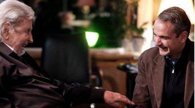 Συνάντηση Κυριάκου Μητσοτάκη με τον Μίκη Θεοδωράκη - Τι συζήτησαν