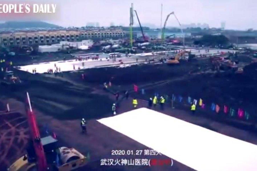 Βίντεο: Η απίστευτη ταχύτητα στην κατασκευή των δυο νοσοκομείων για τον κοροναϊό στην πόλη Ουχάν