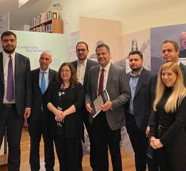 Επίσκεψη αντιπροσωπείας της ΝΔ στο Εβραϊκό Μουσείο