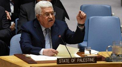 Ο Παλαιστίνιος πρόεδρος Αμπάς θα μιλήσει στο ΣΑ του ΟΗΕ για το ειρηνευτικό σχέδιο για τη Μέση Ανατολή