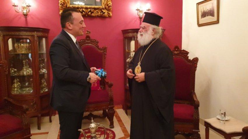 Συνάντηση Βλάση με τον πατριάρχη Αλεξανδρείας Θεόδωρο στο Κάϊρο