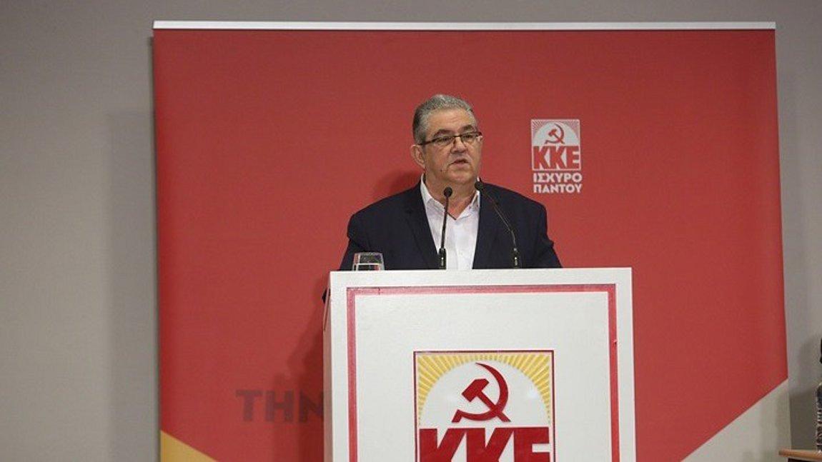 Ανησυχία Δ. Κουτσούμπα για προώθηση της επιλογής συμβιβασμού με την Τουρκία