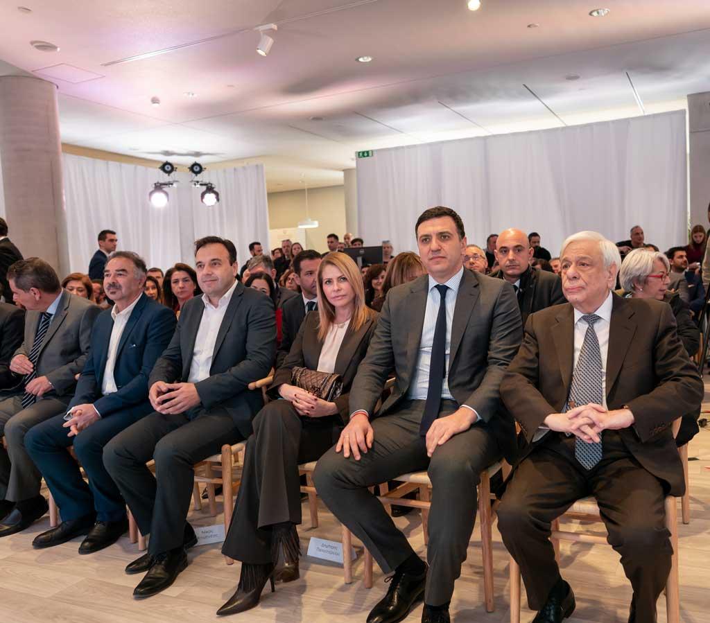 Ο Πρόεδρος της Δημοκρατίας, κύριος Προκόπης Παυλόπουλος με τον Υπουργό Υγείας, κύριο Βασίλη Κικίλια κατά τη διάρκεια της εκδήλωσης