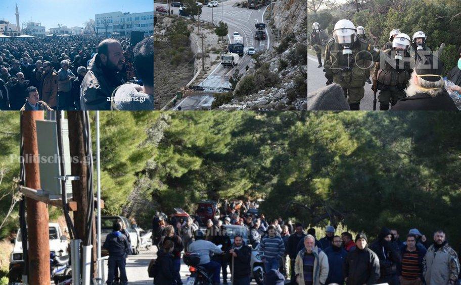 Μολότοφ και χημικά για τις κλειστές δομές - Γενική απεργία κήρυξε η Περιφέρεια Β. Αιγαίου