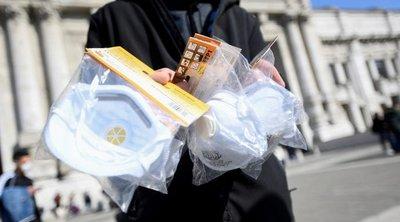 Η αστυνομία του Μιλάνου κατάσχεσε εκατοντάδες μάσκες προστασίας