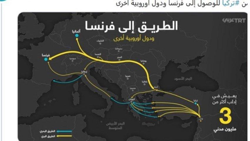 Η τουρκική κρατική τηλεόραση δίνει «οδηγίες» με χάρτη για τις διαδρομές προς την Ελλάδα