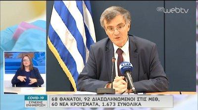 Σ. Τσιόδρας: Οι θάνατοι που καταγράφονται τώρα δείχνουν τι έχει συμβεί πριν από 2-3 εβδομάδες - ΒΙΝΤΕΟ