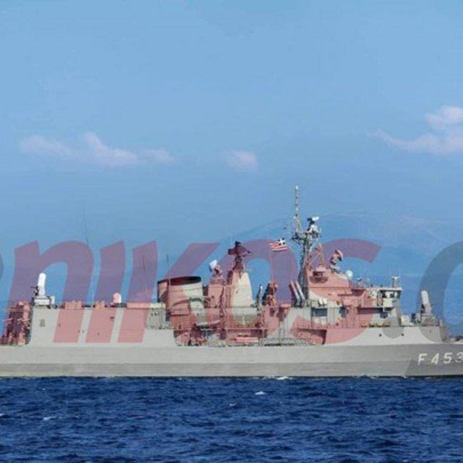 Η φρεγάτα ΣΠΕΤΣΑΙ στη Λιβύη για την επιχείρηση IRINI - Υψώνει τείχος απέναντι σε 4 τουρκικές φρεγάτες