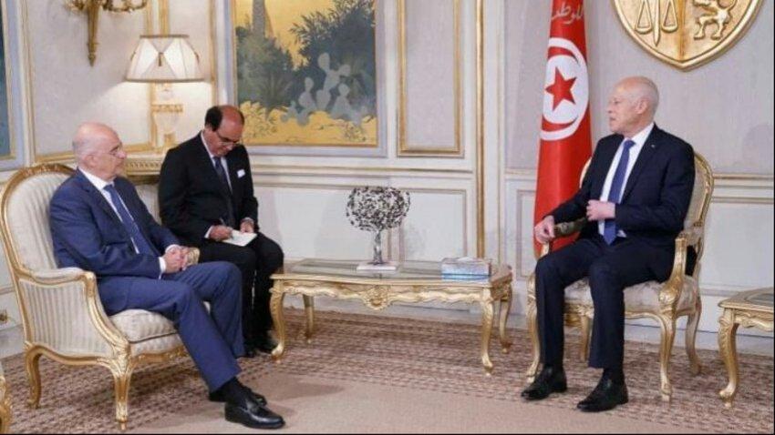 Δένδιας: Ικανοποίηση για τις θέσεις της Τυνησίας στο θέμα της Λιβύης