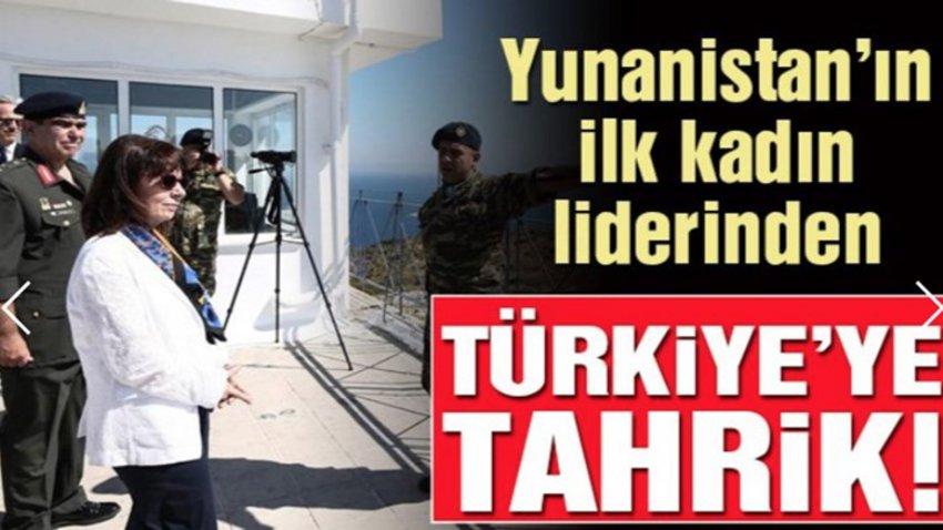 Επίθεση από τουρκικά ΜΜΕ στην Κατερίνα Σακελλαροπούλου - Τι γράφουν για την επίσκεψη στο Αγαθονήσι