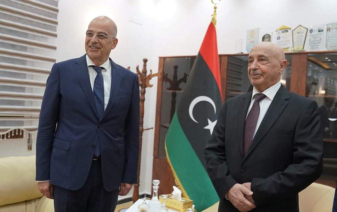 Δένδιας: Συμφωνήσαμε με τον Σάλεχ ότι η Τουρκία έχει ιστορικές ευθύνες για ότι συμβαίνει στη Λιβύη