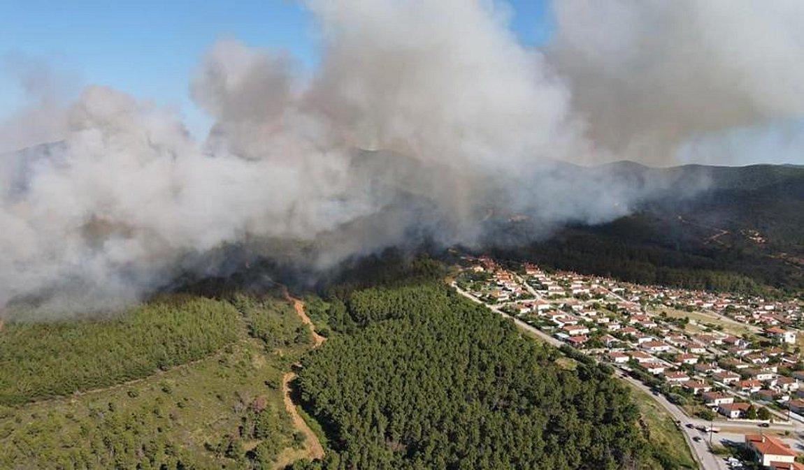 Πυρκαγιά στις Σάπες Ροδόπης - Εκκενώθηκε οικισμός