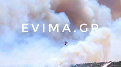 Εύβοια: Πυρκαγιά στους Ραπταίους - Εκκενώθηκε προληπτικά οικισμός