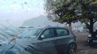 Ναύπλιο: Όπου φύγει φύγει από την Καραθώνα λόγω της καταιγίδας - Μποτιλιάρισμα και συνδρομή της αστυνομίας