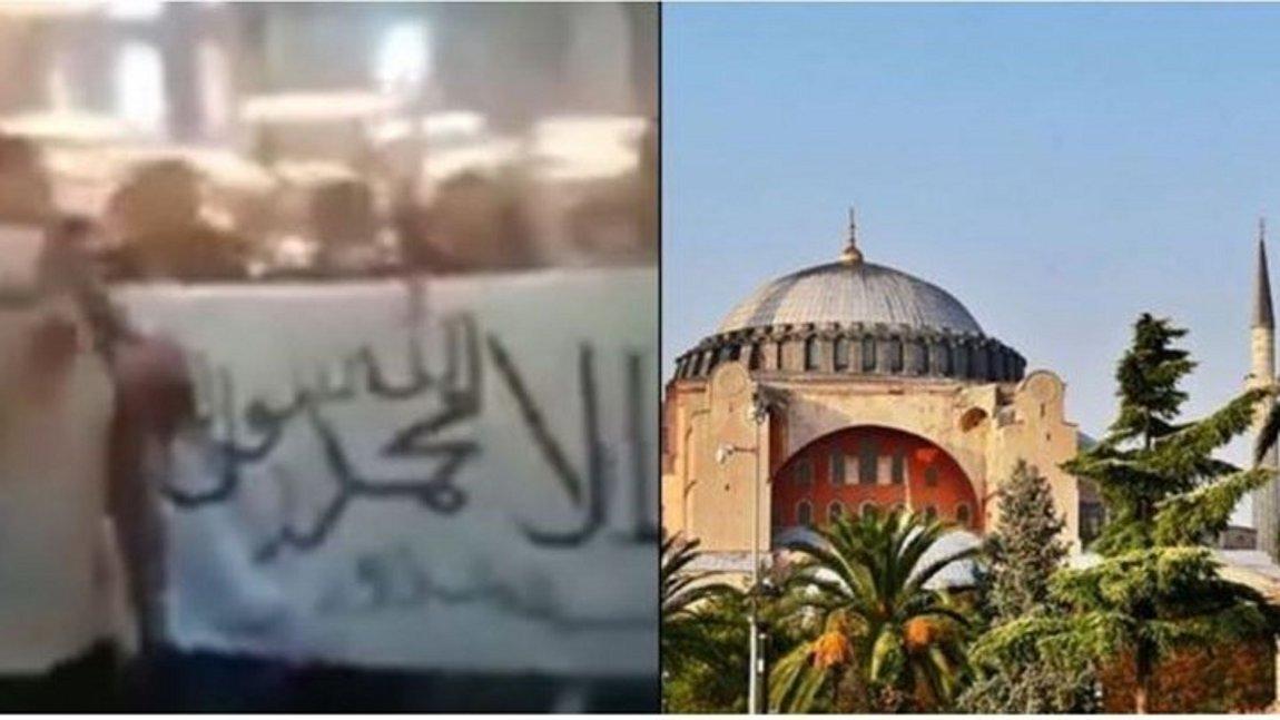 Εικόνες βεβήλωσης στην Αγία Σοφία: Άνοιξαν σημαία των Ταλιμπάν και φώναζαν «Αλλαχού Ακμπάρ» - ΒΙΝΤΕΟ
