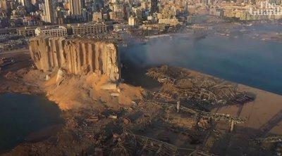 Ισοπεδώθηκε το λιμάνι της Βηρυτού - Συγκλονιστικό ΒΙΝΤΕΟ από drone αποτυπώνει το μέγεθος της καταστροφής