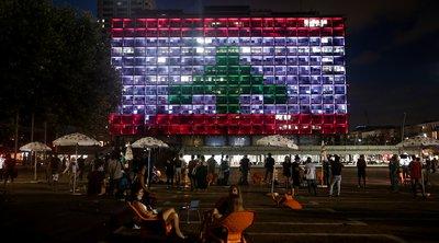To δημαρχείο του Τελ Αβίβ στα χρώματα του Λιβάνου - Αντιδράσεις, καθώς Ισραήλ και Λίβανος θεωρητικά είναι σε εμπόλεμη κατάσταση