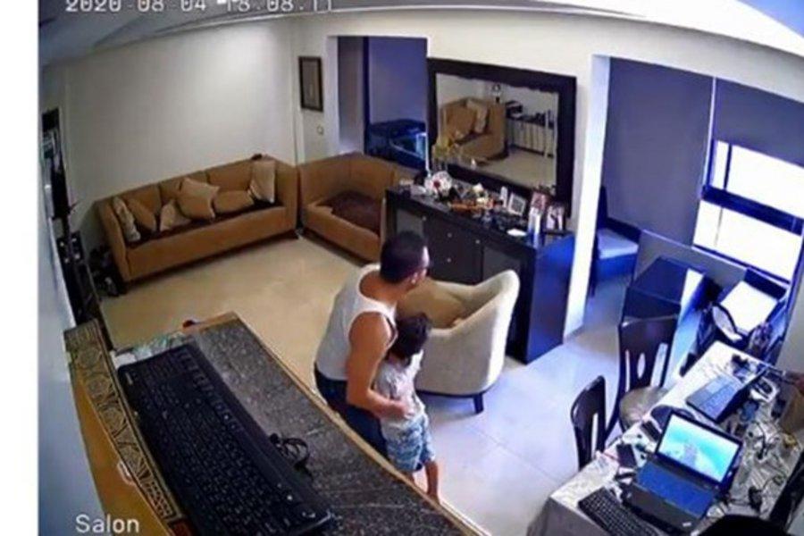 Βηρυτός: Η αντίδραση ενός πατέρα τη στιγμή της έκρηξης - ΒΙΝΤΕΟ