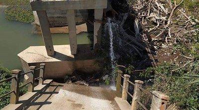 Σέρρες: Κατέρρευσε τμήμα της γέφυρας του Αγγίτη
