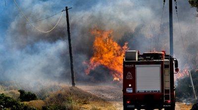 Κάρπαθος: Πυρκαγιά στο χωριό Σπόα