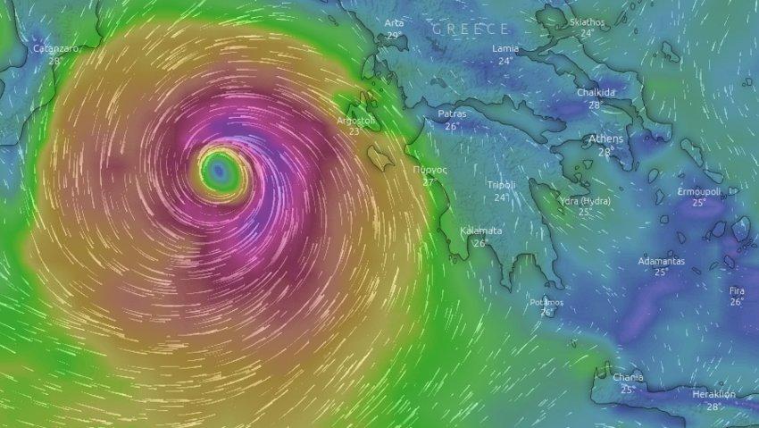 Χαρδαλιάς: Σε κατάσταση ειδικής κινητοποίησης πολιτικής προστασίας περιοχές σε Δυτ. Ελλάδα και Πελοπόννησο που θα πλήξει ο «Ιανός»
