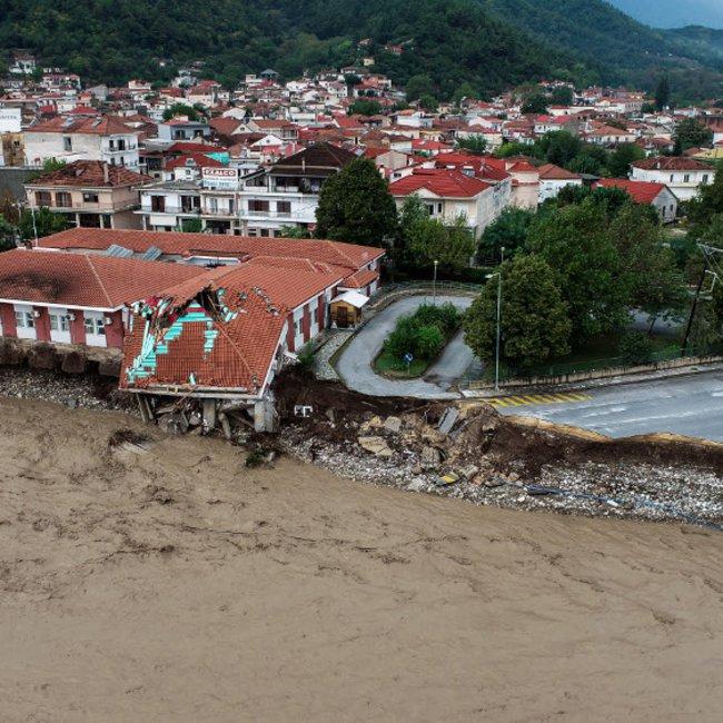 «Ιανός»: Το καταστροφικό πέρασμα από την Καρδίτσα - Σοκαριστικές εικόνες